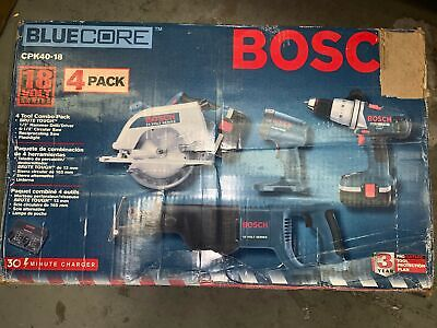 Bosch Cpk40-18 4 Tool Combo Pack Brute Tough Hit0204