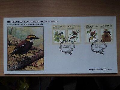 Malaysia 1988 30 Jun FDC Protected Wildlife (4th) Birds Bureau P/mark K Lumpur