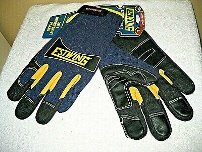 Estwing Cut-resistant Contractors Choice Snug Fit Ansi-4 Blue Work Gloves Xxl