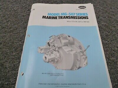 Twin Disc Mg-507a-2 Transmission Assembly Dimensional Specifications Manual