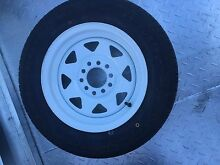 "13"" Trailer tyres on white rims 165/70 x13 Rocklea Brisbane South West Preview"