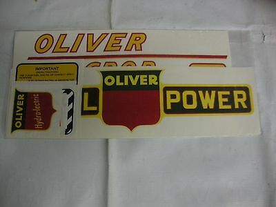 Oliver 88 Row Crop Diesel Red Numbers Tractor Decals