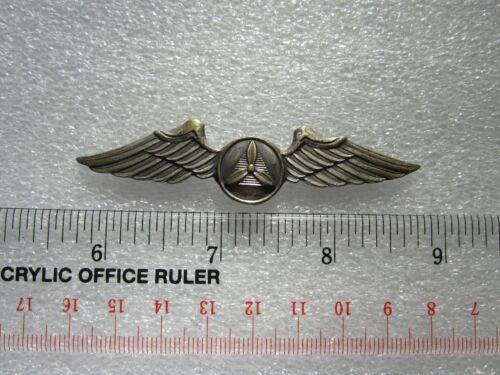 "RARE ORIGINAL WWII US CIVIL AIR PATROL WINGS 3"" PIN BACK BY GEMSCO"