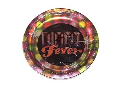 DISCO FEVER 8-PAPER LUNCH   PLATES -   10-3/8