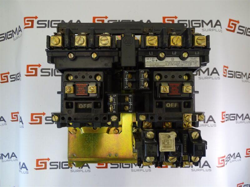 Allen-Bradley 505-A0D Reversing Starter Size 0 Series A 600VAC Max. 5HP@575V