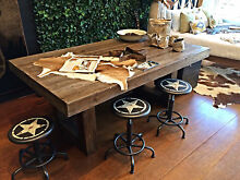 Reclaimed U Shape Design Dining Table Brendale Pine Rivers Area Preview