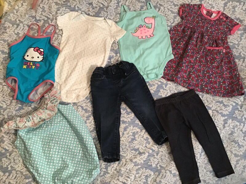 Mixed Lot Baby Girls  Size 12-24 Mos.1 Pieces, Swim Suit, Jeans, Dress, Legging