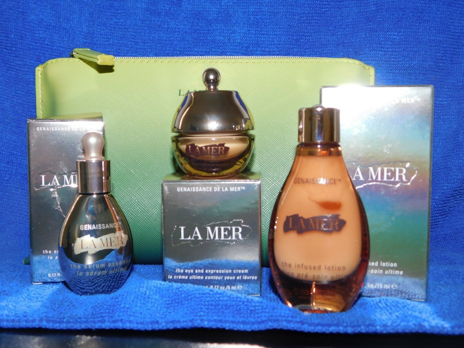La Mer Genaissance Travel Set Eye Cream Lotion Serum 2018-19