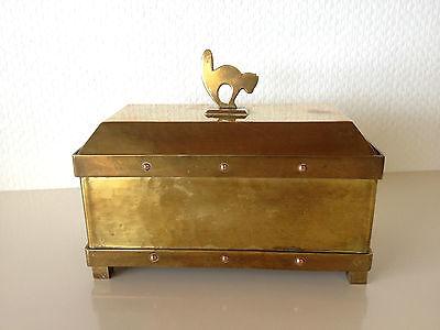 Seltene Antike Schmuckschatulle, Schwere Messingausführung Handgefertigt um 1900