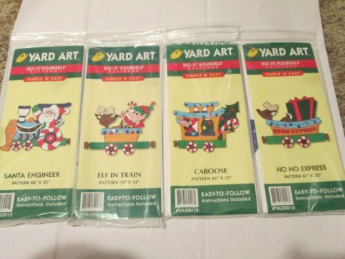 Yard Art Do-It-Yourself  Christmas Train Express Caboose Santa Patterns Lot/4