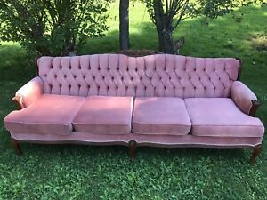 Antique retro couch and chair