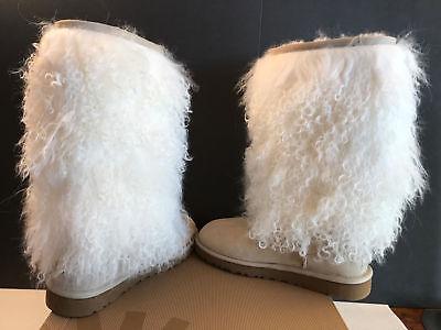 UGG AUSTRALIA MONGOLIAN SHEEPSKIN CUFF TALL Boots  ~ RARE NIB SZ 7.0 for sale  USA