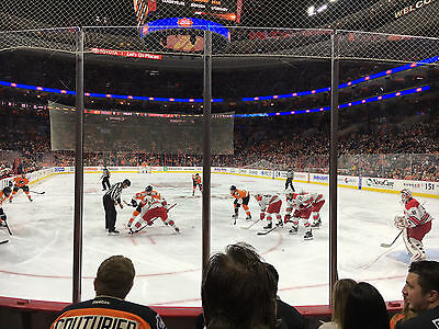 ROW 4 - PHILADELPHIA FLYERS vs PITTSBURGH PENGUINS -2 TICKETS, Wednesday 3/15/17