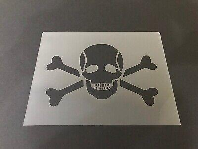 Skull #4 Stencil 10mm or 7mm Thick, skulls, halloween, Crafts, - Halloween Skull Stencils