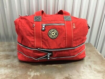 KIPLING Luggage Expandable Duffle Red Packable