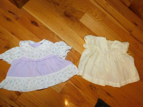 Fawn Togs Yellow + Philippines Purple Baby Dresses Vintage