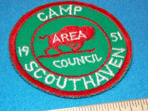 VINTAGE - 1951 Boy Scout Camp Scouthaven PATCH - MINT