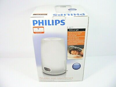 Philips Wake-Up Natural Light Therapy Alarm Clock FM Radio HF3470 - New Open Box