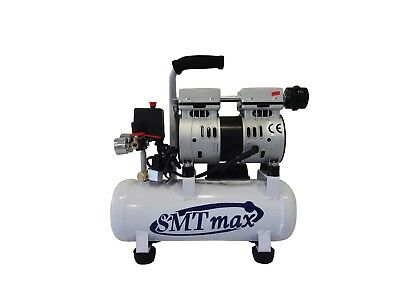 New 12hp 2.4 Gallon. Medical Noiseless Oil Free Dental Air Compressor 110v