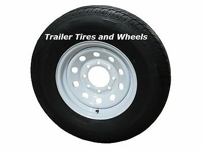 Rainier ST235/80R16 LRE Radial Trailer Tire & Wheel White Mod 8-6.5