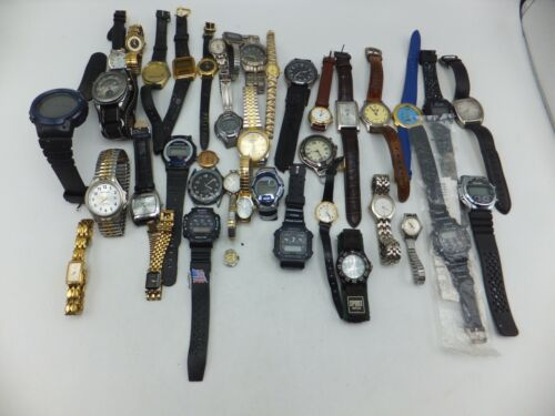 Lot Of 30+ Elgin, Timex, Citizen, Sports Mens / Womens Watches - Sold As-Is