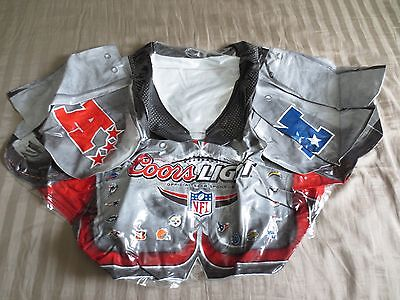 Blow Up Football (Coors Light NFL Football Shoulder Pads Beer Inflatable Blow Up 32x21 in.)