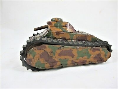 GERMAN TINPLATE WINDUP WW1 TANK C1915