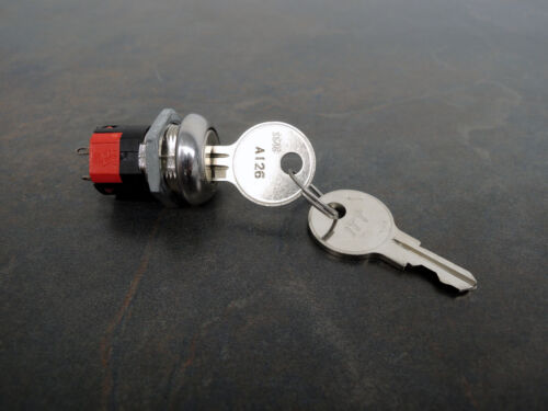 C&K Keylock On Off Switch, Y101132C203NQ, SPST, 4A, 125VAC, 2 Keys, New Open Box