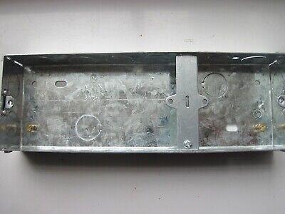 3 Gang Metal box 35mm 1 X 2. Electrical Back Box