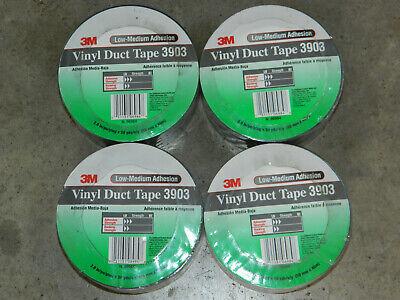 4 New Rolls 3m 06984 Gray Grey 3903 Vinyl Duct Tape 2 Inch X 50 Yards 6984