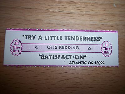 "1 Otis Redding Try A Little Tenderness (ww) Jukebox Title Strip 7"" 45RPM Records"