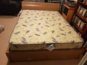 Queen-size bed with underbed storage drawers (free mattress!)