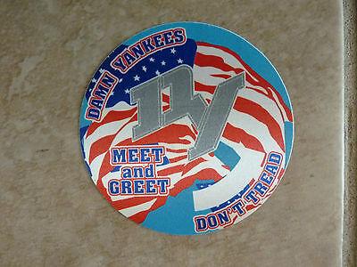 Ted Nugent Damn Yankees Meet Greet Photo Tour Concert Backstage Pass Sticker #2