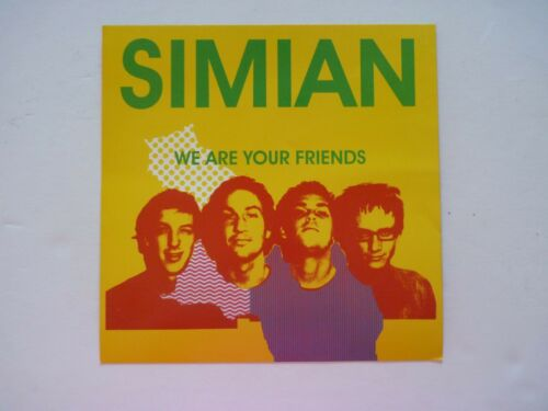 Simian We Are Your Friends LP Record Photo Flat 12x12 Poster