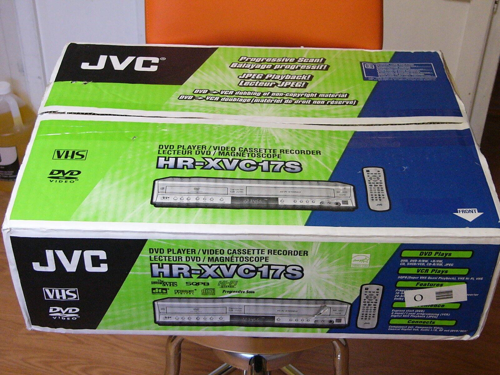 NEW JVC HR-XVC17S DVD VHS Player Hi Fi VCR Combo S-VHS Quasi