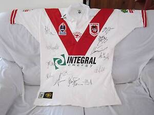 NRL ST GEORGE ILLAWARRA DRAGONS SIGNED 2003 JERSEY SIZE 2XL Ingleburn Campbelltown Area Preview