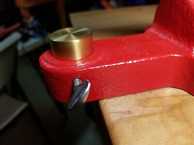 Machined Brass Leather Press Anvil For Tandy Or Similar Kick Presses