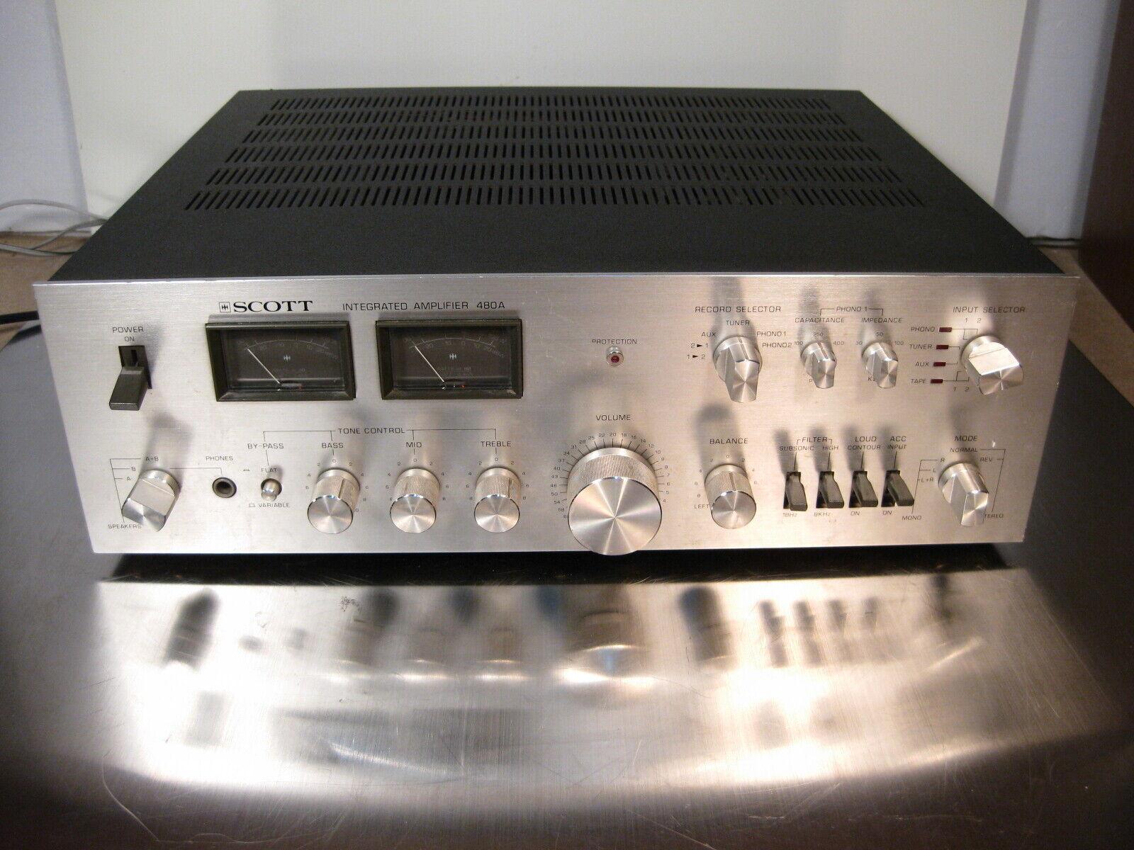 Ampli intégré vintage scott  480a 480 a , huge ,bad smell !! mauvaise odeur