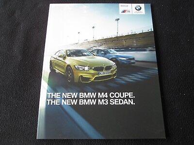 2015 BMW M4 Coupe M3 Sedan Prestige Brochure F80 F82 US Sales Catalog