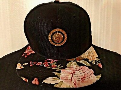 Rojas Floral Flat Brim Baseball Hat Cap Adjustable Size Made in L.A. for sale  Las Vegas