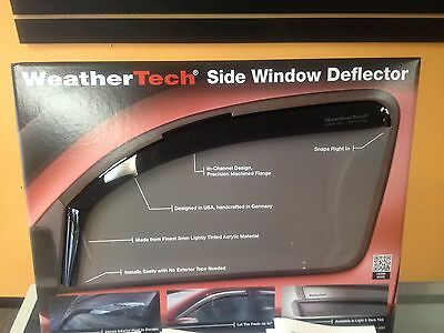 WEATHERTECH RAIN GUARDS FOR CADILLAC ESCALADE ESV 2007-2014 4PC DARK SMOKE