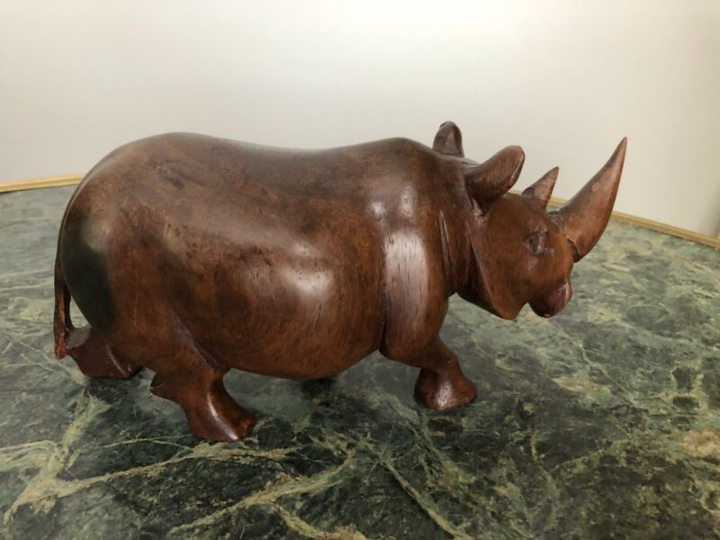 Collectable wooden rhinoceros figurine, Original Condition