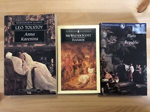 Classic Fiction - Tolstoy, Scott, Plato (3 set)