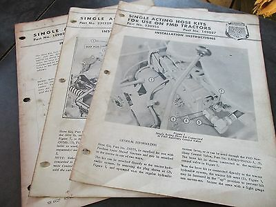 Fordson Major Diesel Tractor Single Acting Hose Kit Instructions