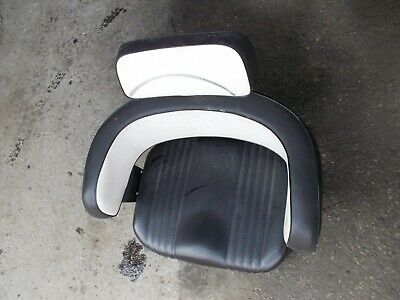 Farmall 706 806 Ih Tractor Nice Black White Back Deluxe Seat Cushion Brackets