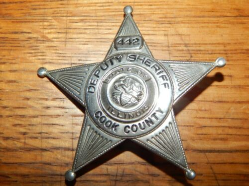 ANTIQUE COOK COUNTY IL ILLINOIS DEPUTY SHERIFF POLICE #442 POLICE CHICAGO