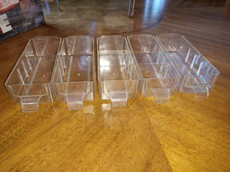 Power-Kraft Parts Cabinet Drawers Only , Lot of 5, w/ Pulls, Fits others too !