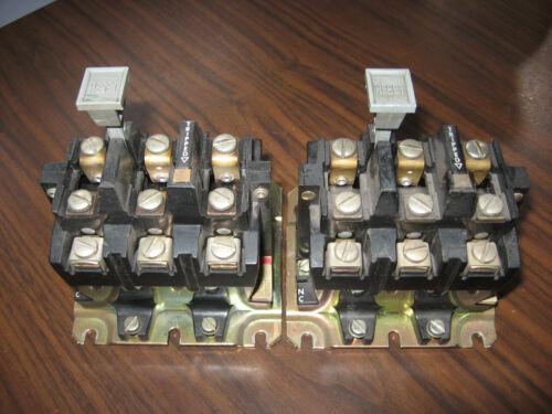 Lot of 2 Allen Bradley 592-BOV16 Overload Relays (Gray Reset)