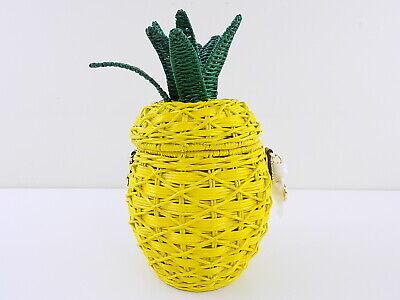 MICHAEL KORS $358 NOUVEAU NOVELTY Yellow Crossbody PURSE PINEAPPLE HANDBAG E25