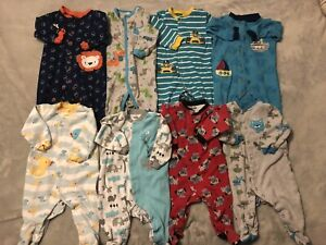Baby boy sleepers size 6 months